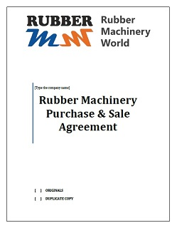 Rubber Machinery Purchase Agreement