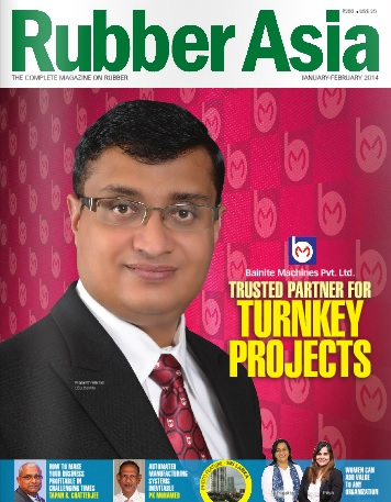 Prasanth Warrier on the Cover of Rubber Asia
