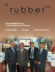 Prasanth Warrier on the Cover of Rubber India