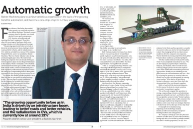 Prasanth Warrier Interview in Tire Tech_July 2012